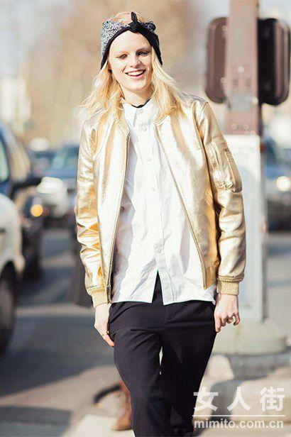 潮人街拍 春季衬衫的时髦穿搭法则